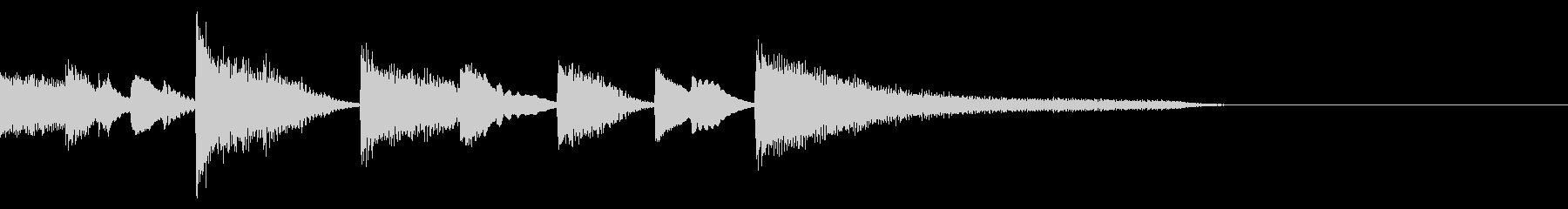 ジャズピアノの軽快なジングルC1の未再生の波形