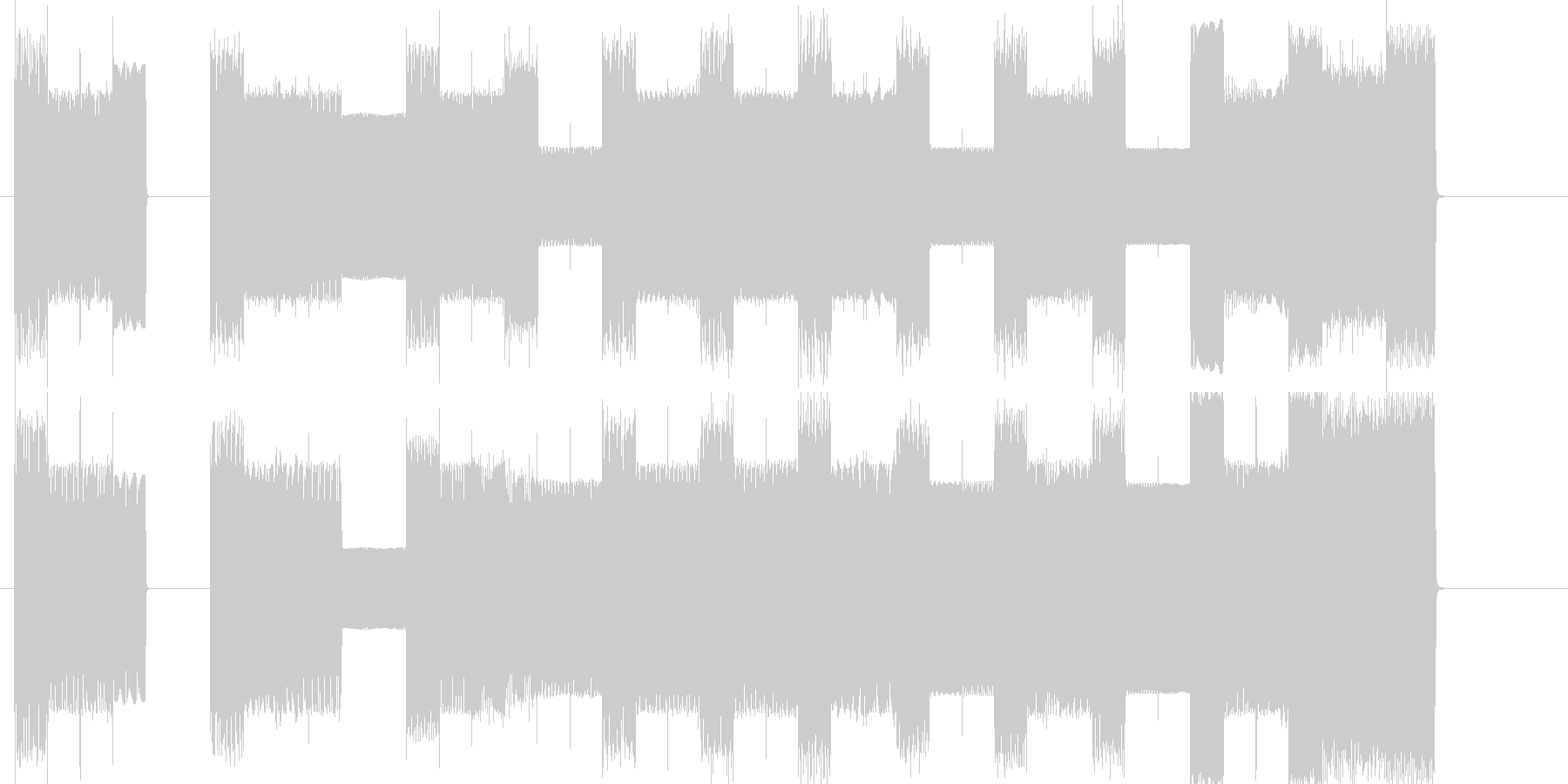 ファミコンレベルアップピコピコ曲の未再生の波形