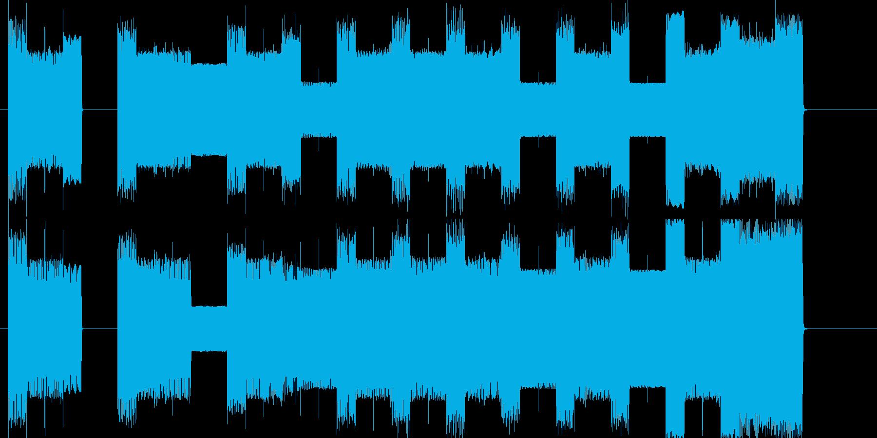 ファミコンレベルアップピコピコ曲の再生済みの波形