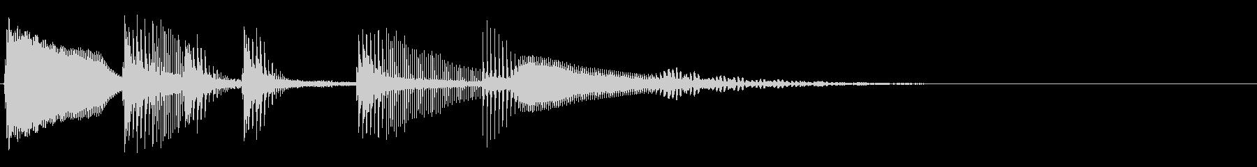 アニメ系失敗効果音5の未再生の波形