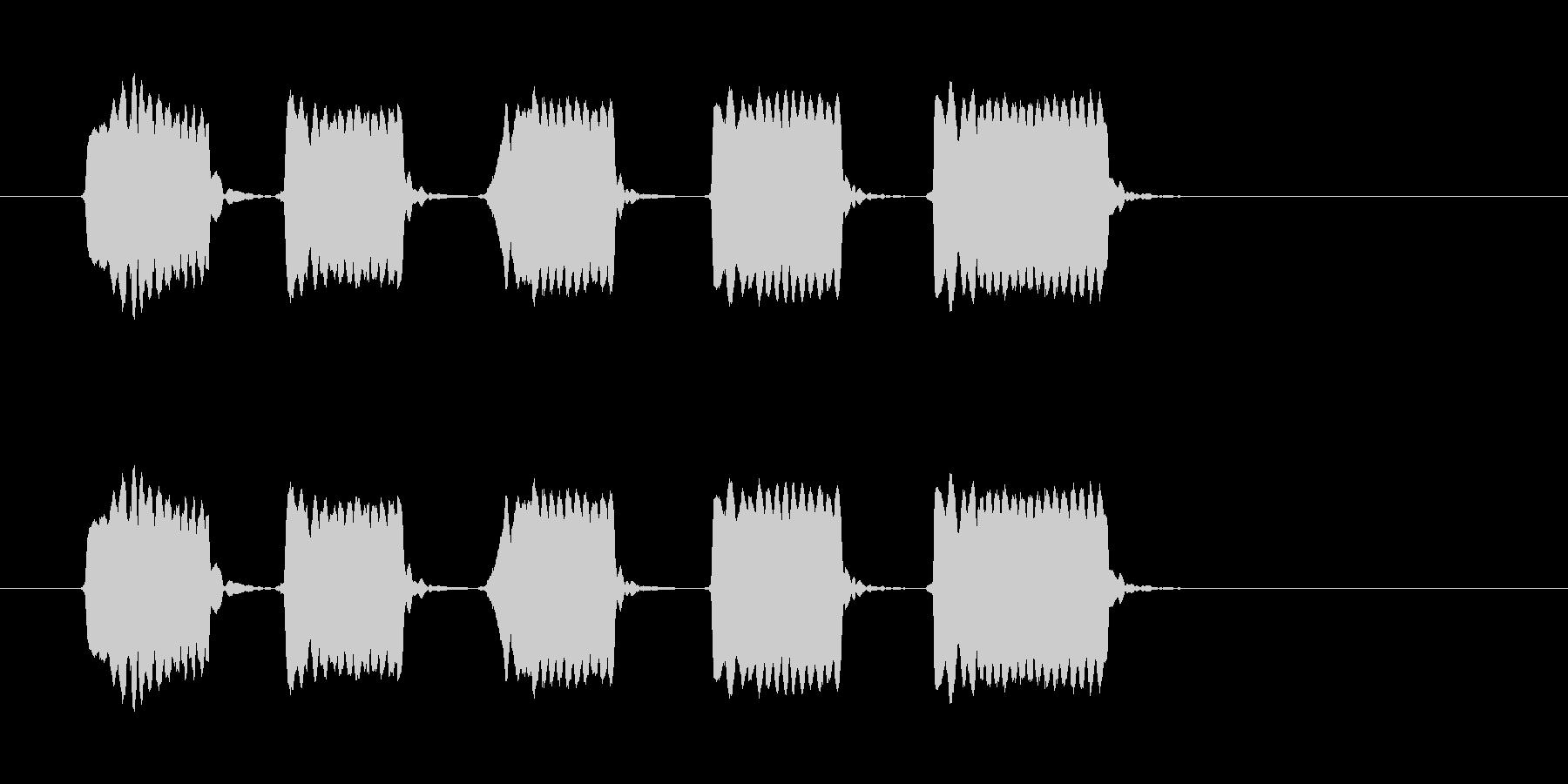 ピピピピピッ◆ホイッスル/競技、交通整理の未再生の波形