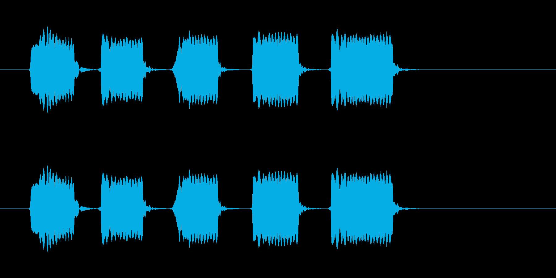 ピピピピピッ◆ホイッスル/競技、交通整理の再生済みの波形