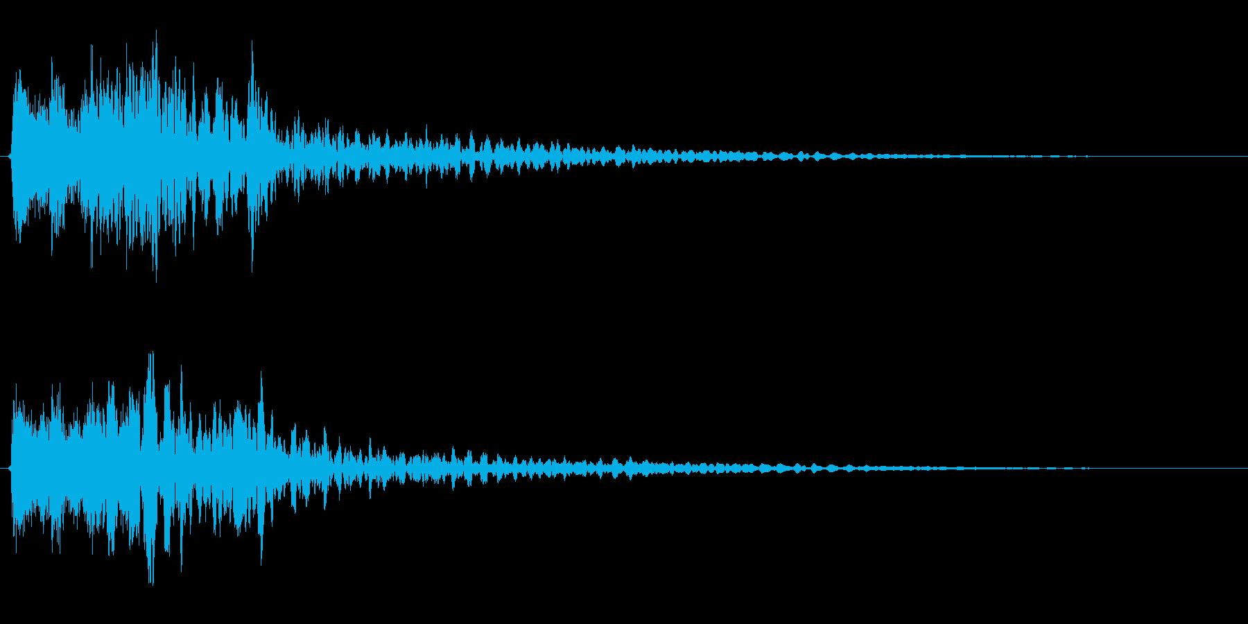 サスペンスに最適!ピアノの弦を弄ぶ音52の再生済みの波形