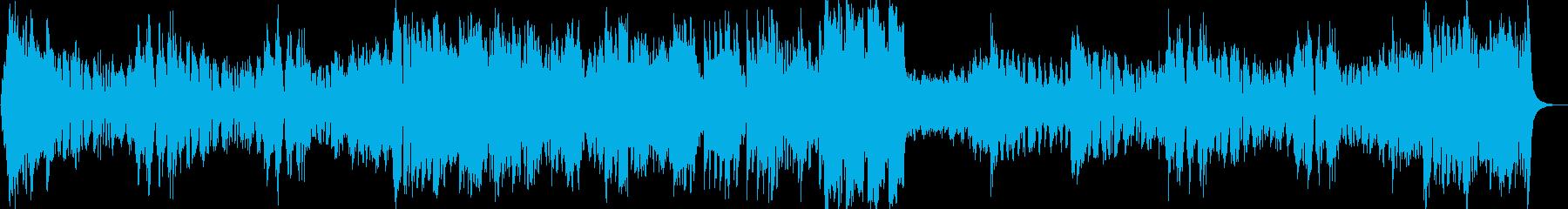 ファンファーレから始まるお城BGMの再生済みの波形