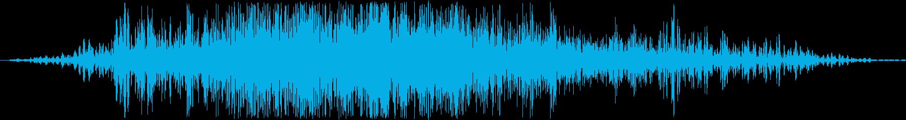 ザーァァ。ふすまを開けるときの音です。の再生済みの波形