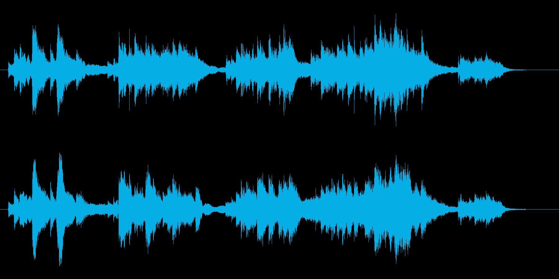 美しいバラード調ソロピアノ曲の再生済みの波形