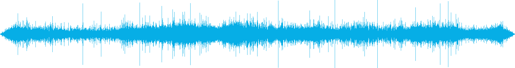 ジューー(炒める音)の再生済みの波形