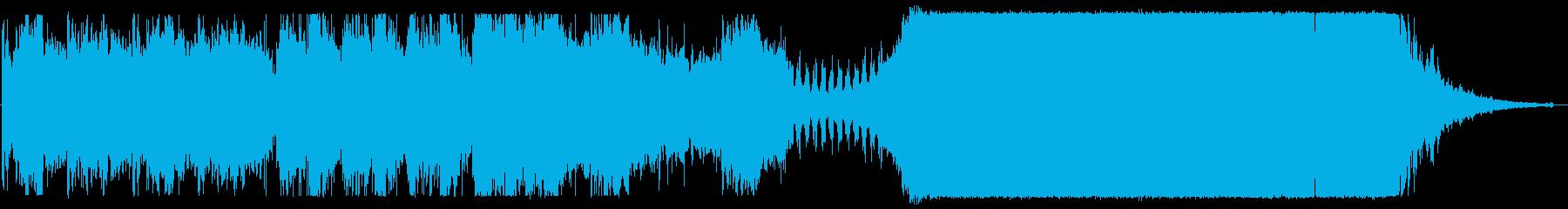 映画音楽的なBGMの再生済みの波形
