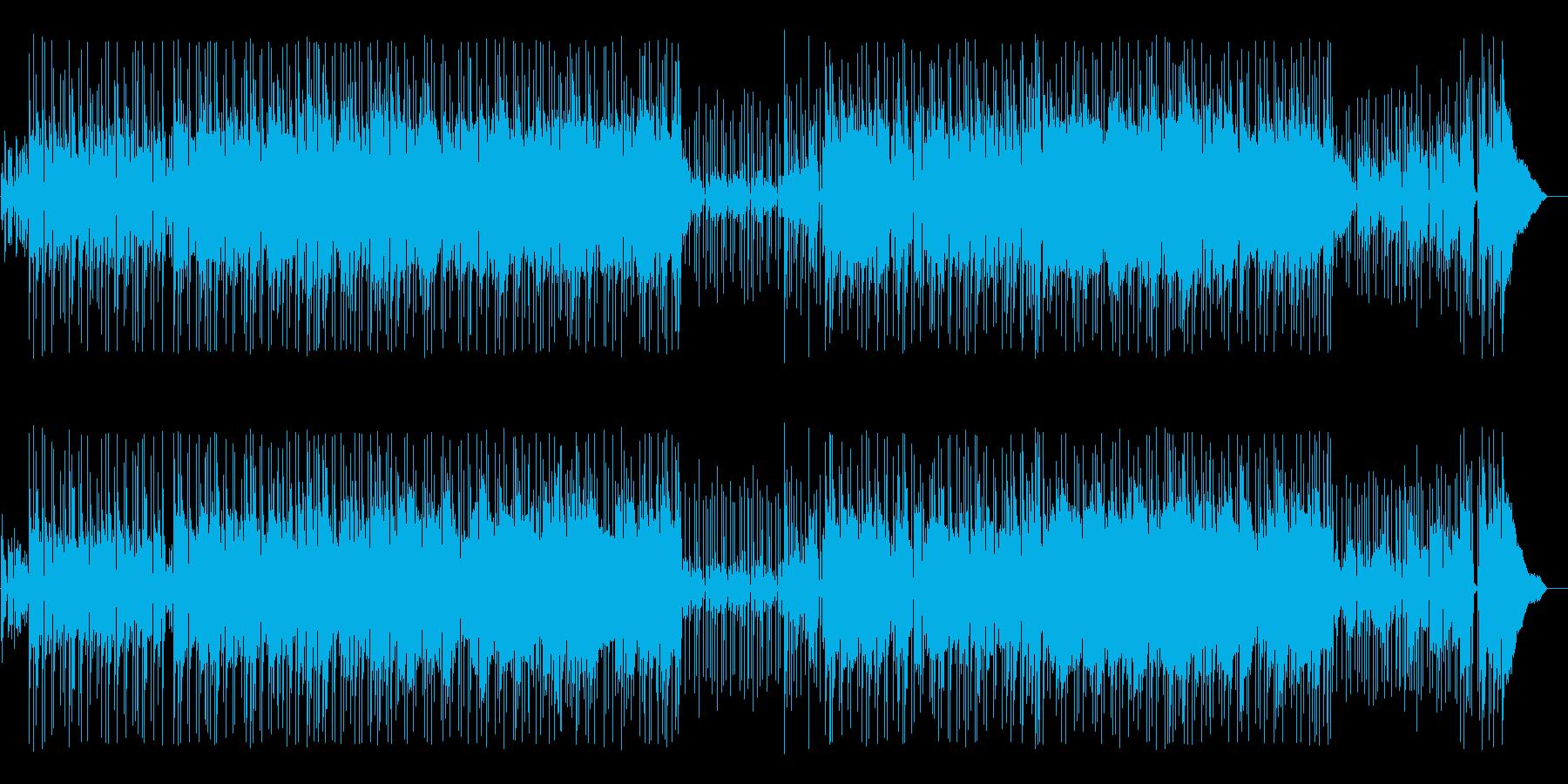 ちょっとブルージーなロック・フュージョンの再生済みの波形