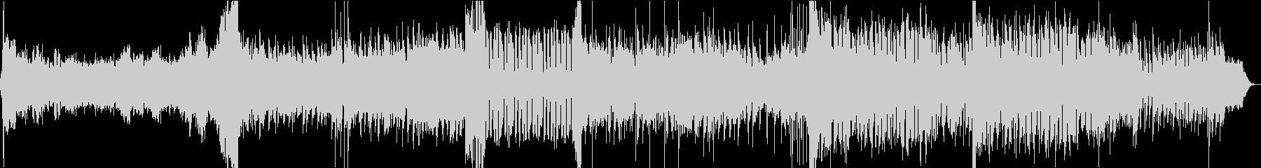 ピアノの旋律が印象的なシンセポップBGMの未再生の波形