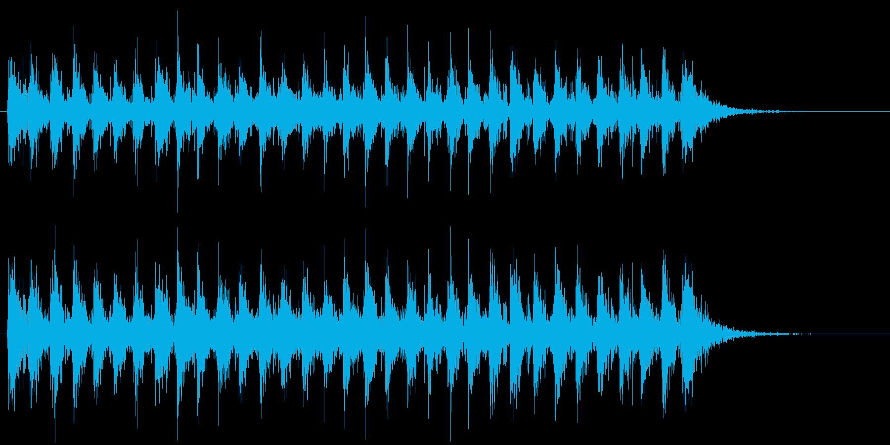 Xmasに最適トナカイベルのループ音09の再生済みの波形