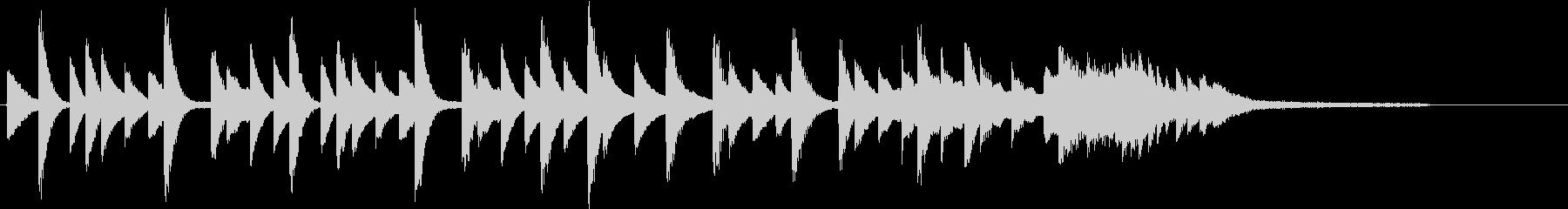 四季より「春」モチーフのピアノジングルCの未再生の波形