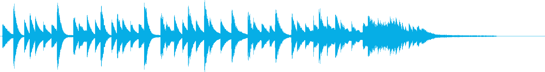 四季より「春」モチーフのピアノジングルCの再生済みの波形