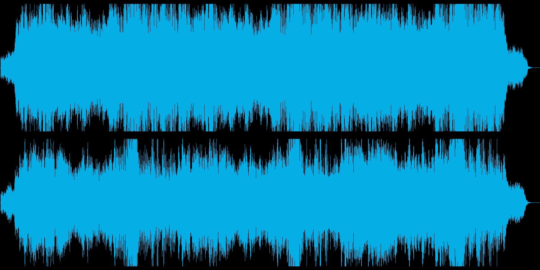 静かで安らぐヒーリングミュージックの再生済みの波形