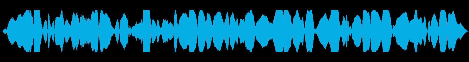 共鳴音とハムの再生済みの波形