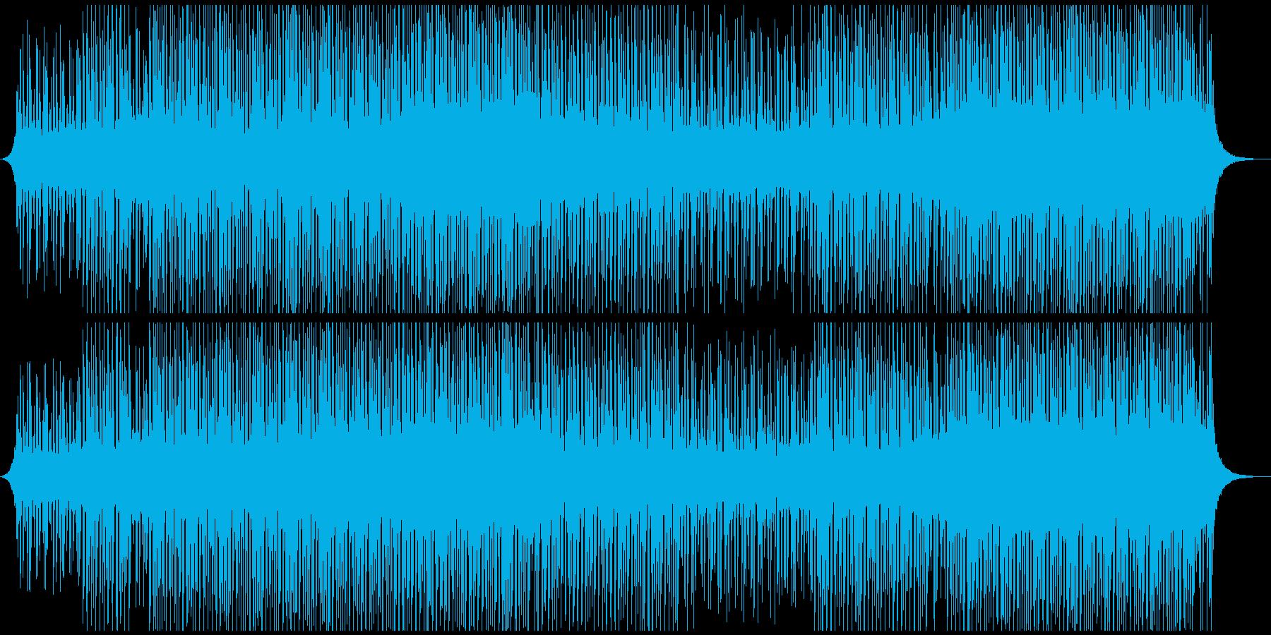 ハッピーアップビートミュージックの再生済みの波形