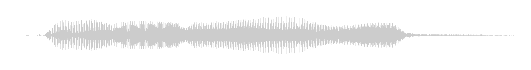 ごめんの未再生の波形