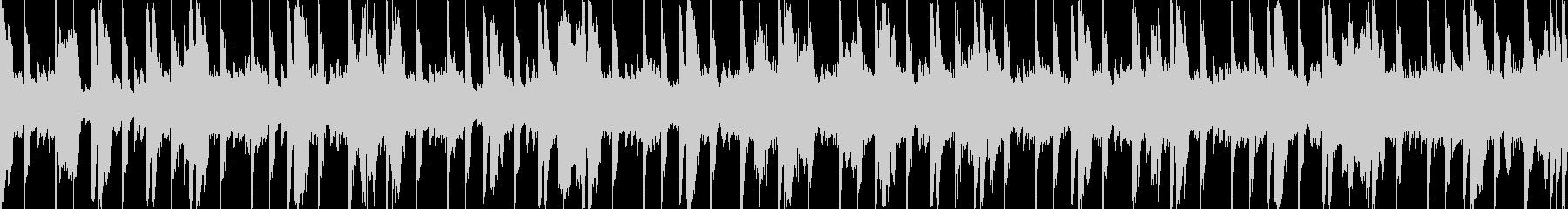 待機画面のようなイメージ楽曲の未再生の波形