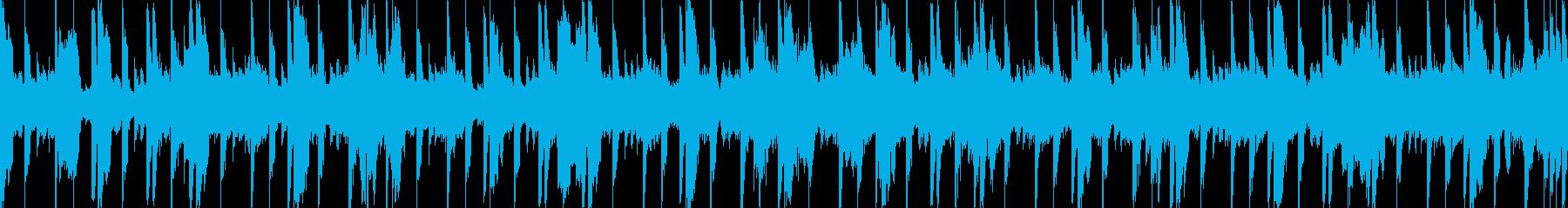 待機画面のようなイメージ楽曲の再生済みの波形