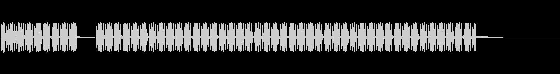 ブブー(不正解のブザー)の未再生の波形
