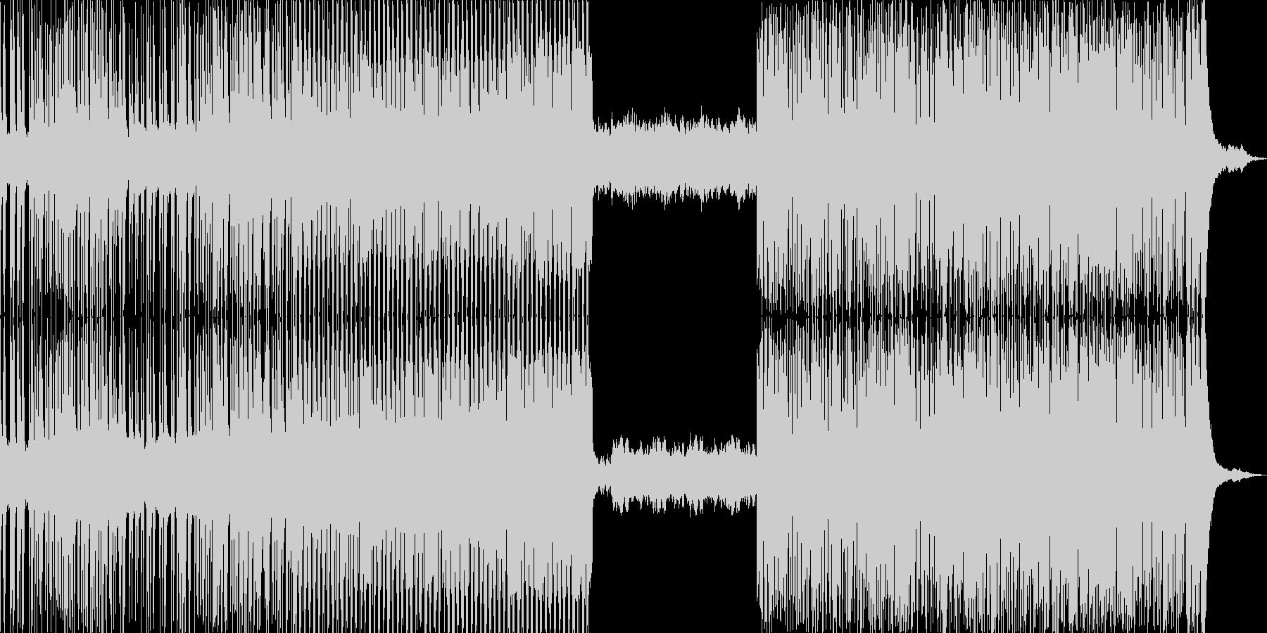 不穏で不気味、ダークなエレクトロの未再生の波形