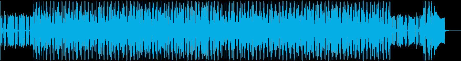 日常に流れる軽やかな曲の再生済みの波形