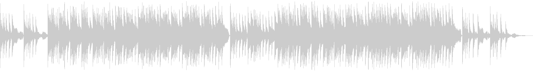 荘厳な感じのピアノ曲の未再生の波形