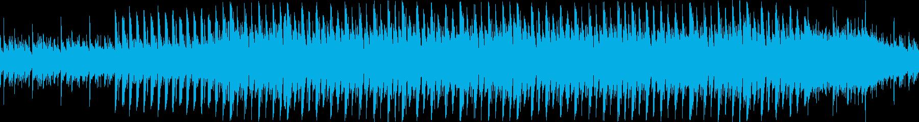ピアノによる不思議なコードのループ曲の再生済みの波形