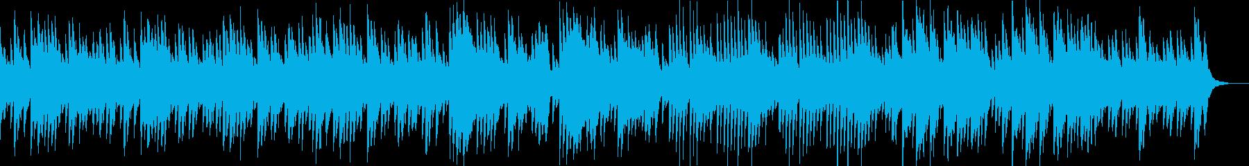 憂鬱で暗いゆったりとしたピアノ曲の再生済みの波形