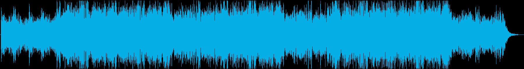 淡々とクールなテクノロジー感のあるBGMの再生済みの波形