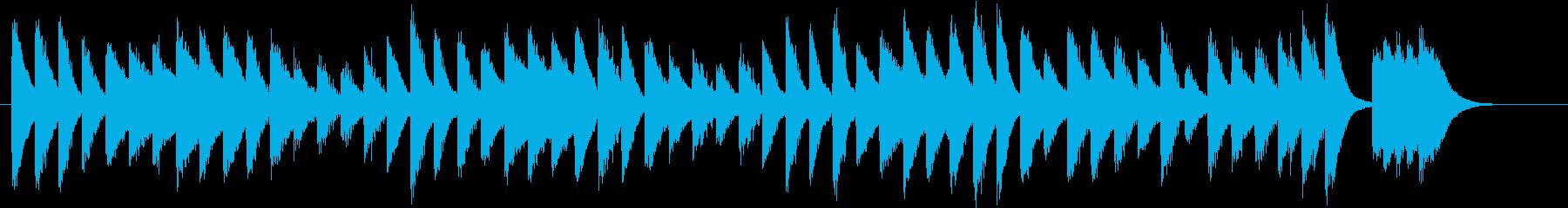 元気でワンパクなワクワク春ピアノジングルの再生済みの波形