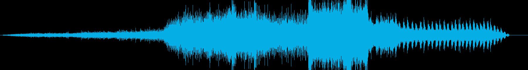 蒸気の放出とブレーキ音で止まる蒸気列車の再生済みの波形