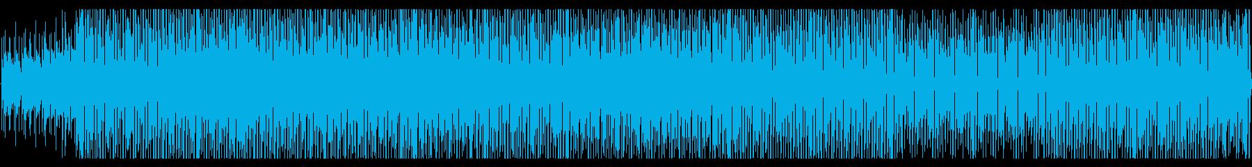 コミカルでワクワクするブラスがメインの曲の再生済みの波形
