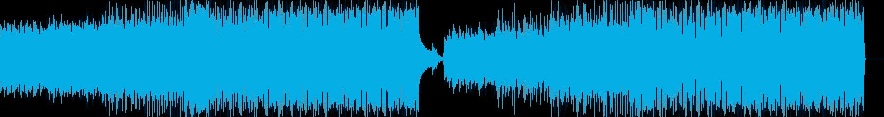 幻想的なピアノと緊張感あるテクノの再生済みの波形