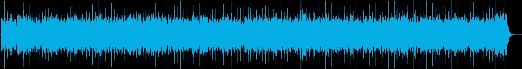 アップテンポでエッジの効いたロックの曲の再生済みの波形