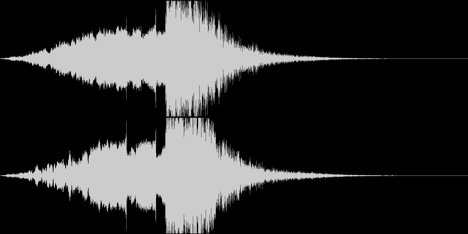 抽象的でスタイリッシュなサウンドロゴの未再生の波形