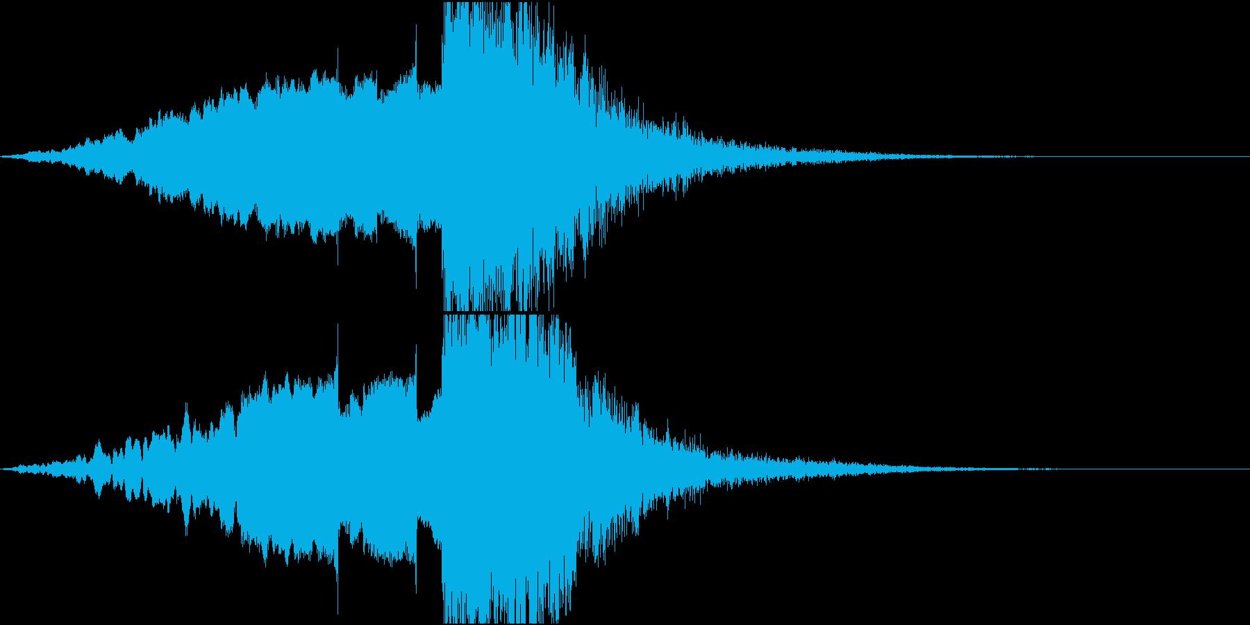 抽象的でスタイリッシュなサウンドロゴの再生済みの波形