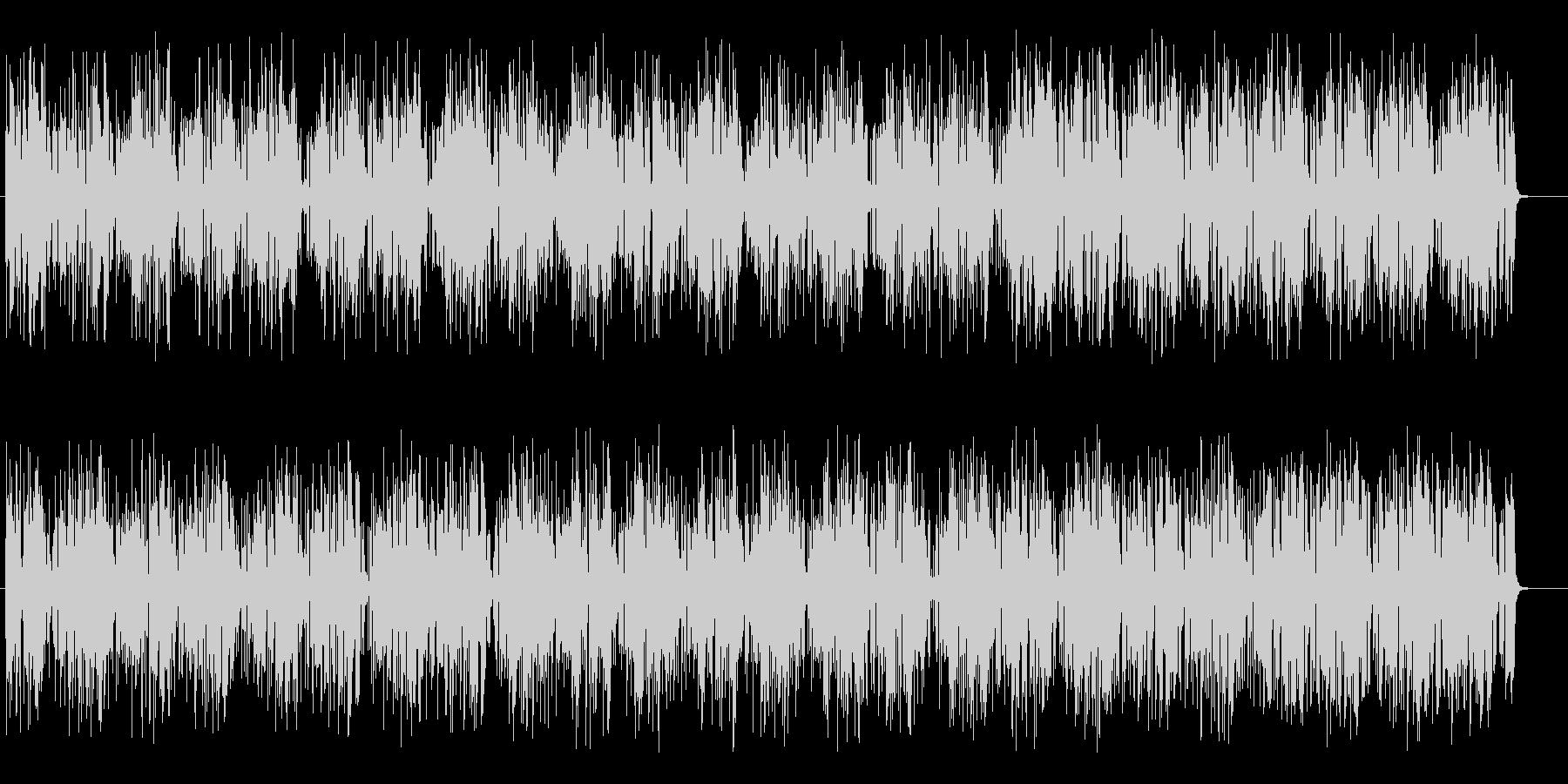 疾走感のあるミステリーミュージックの未再生の波形