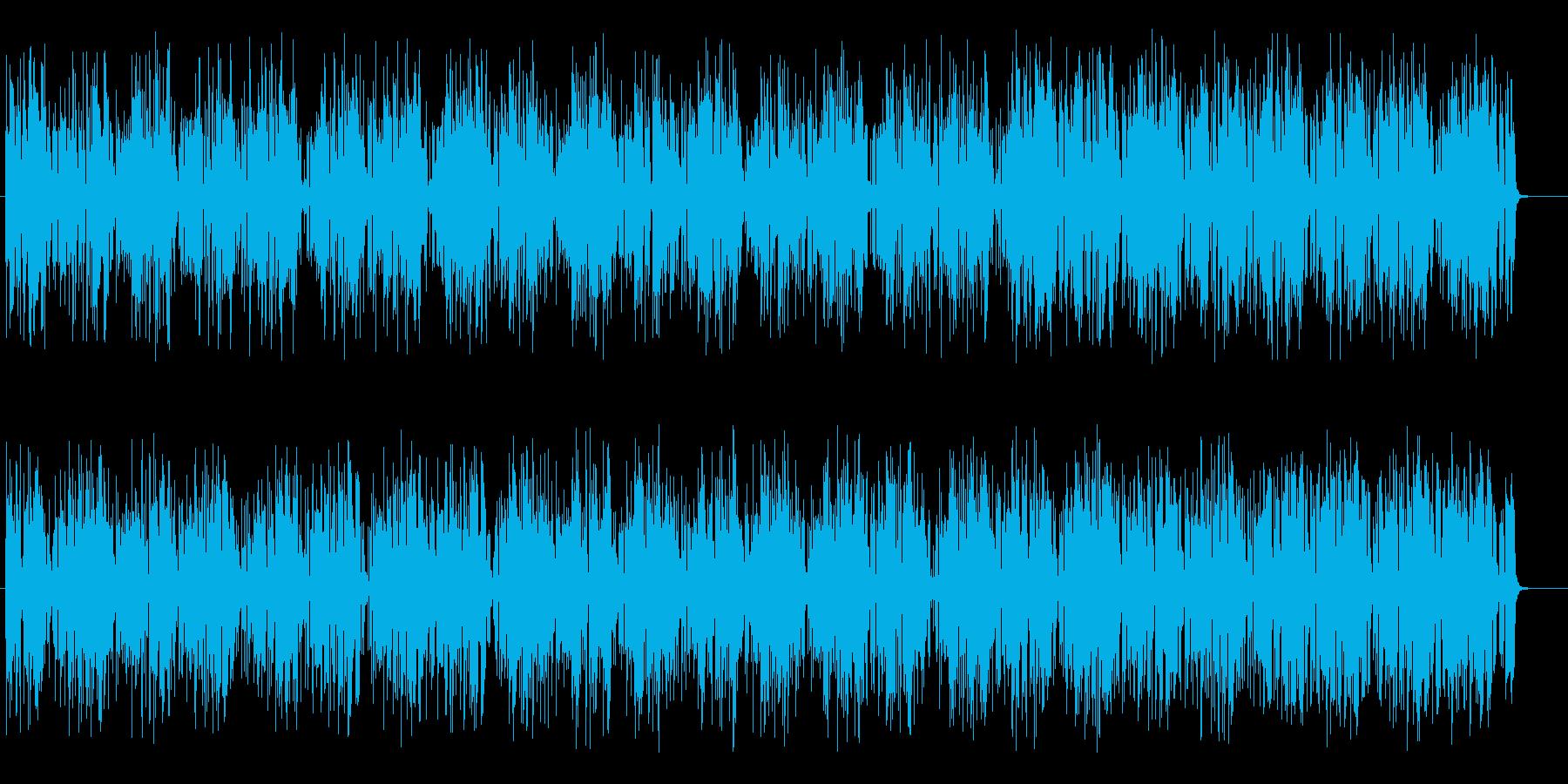 疾走感のあるミステリーミュージックの再生済みの波形
