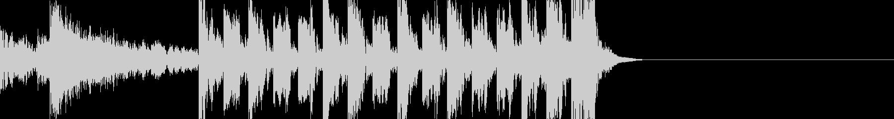 ドラムベース爆発重低音シンプルジングルの未再生の波形