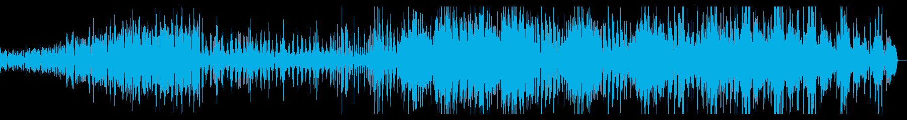軽快なストリングス曲の再生済みの波形