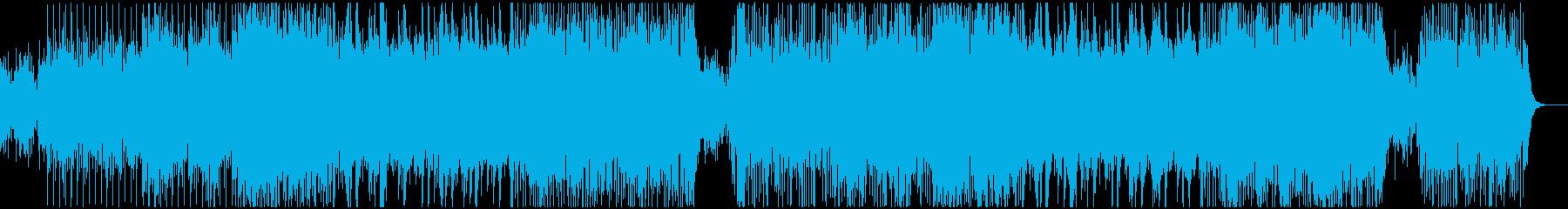 東南アジア風のゆったりとした癒し系BGMの再生済みの波形