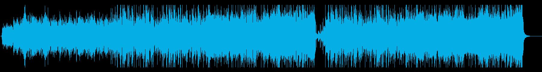 大空を漂うイメージの曲の再生済みの波形