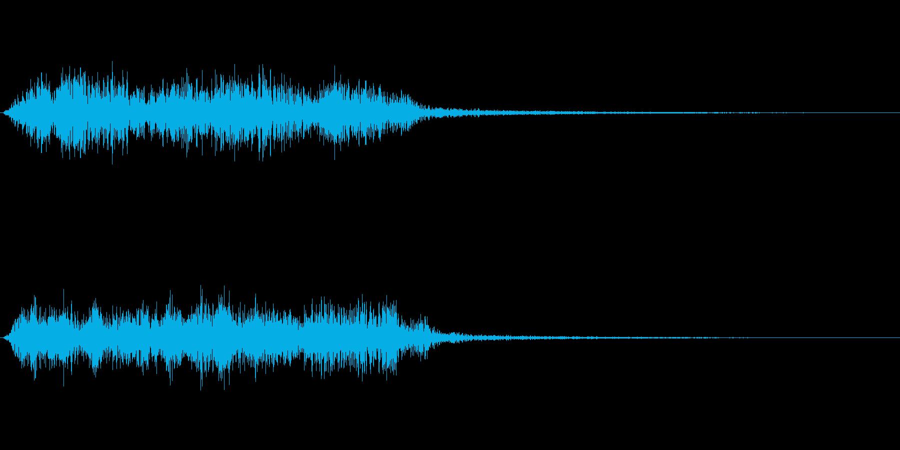 アンビエント感のあるノイズ効果音の再生済みの波形