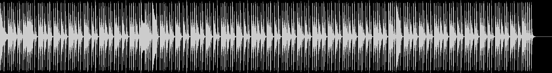 軽快テクノポップ♪楽しいコミカル♪アニメの未再生の波形