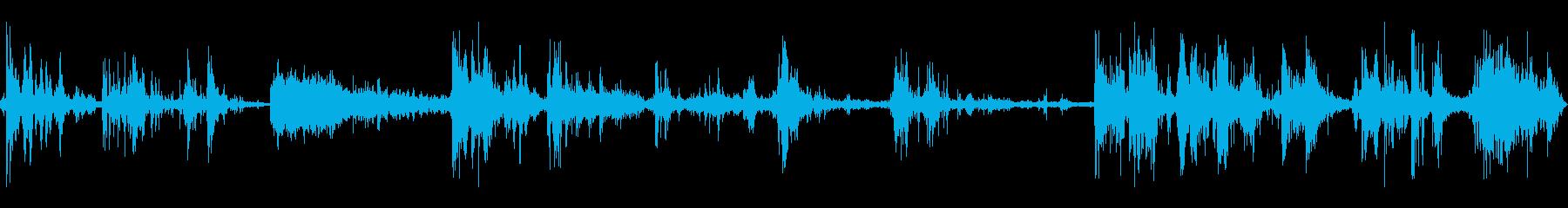 カミナリ(遠雷)の再生済みの波形