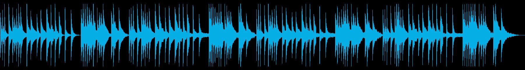 落ち着いた小編成のギター曲の再生済みの波形