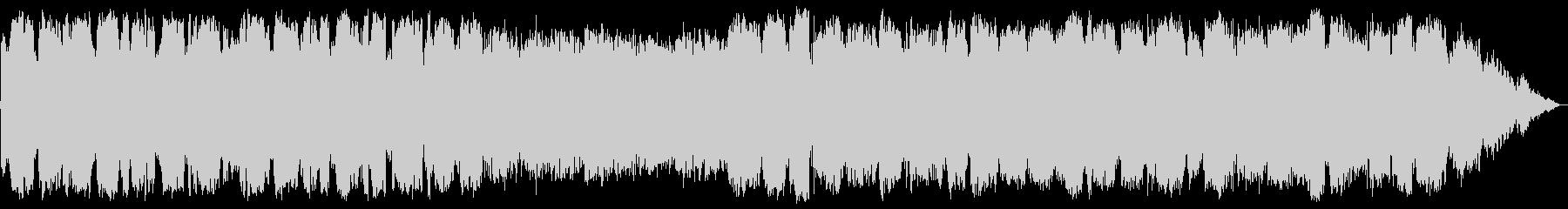 低音の笛の幻想的瞑想音楽の未再生の波形