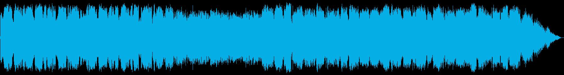 低音の笛の幻想的瞑想音楽の再生済みの波形