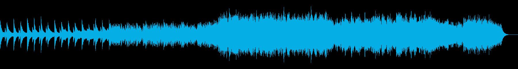 切ないピアノとストリングスのBGMの再生済みの波形